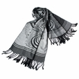 Pa-615-5 Off-white Base Flower Patterns Elegant super Soft Woven Tassel Ends Pashmina/Shawl/Scarve