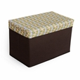[Petal - Green & White] Rectangle Foldable Storage Ottoman / Storage Boxes / Storage Seat