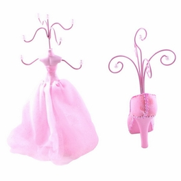 [Pinky] Jewelry Display Holder Stand Combo Light Pink