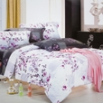 [Plum in Snow] Luxury 7PC Bed In A Bag Combo 300GSM (King Size)