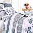 [Purple Deer Totem] 100% Cotton 5PC Comforter Set (Queen Size)