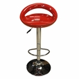 Red temptation Set of 2  Barstools Bar Chair Adjustable Swivel ABS Seat