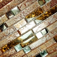 Retro Golden - 3-Dimensional Mosaic Decorative Wall Tile(6PC)