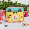 [Smile Cat] Embroidered Applique Swingpack Bag Purse / Wallet Bag / Shoulder Bag (5.5*4.7*1.2)