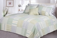 [Spa Stripe's] 100% Cotton 3PC Vermicelli-Quilted Striped Patchwork Quilt Set (King Size)