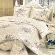 [Spring Temptation] Cotton 3PC Floral Vermicelli-Quilted Printed Quilt Set (Full/Queen Size)