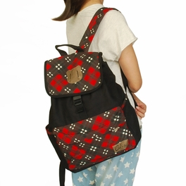 [Touching Sun] Fabric Art School Backpack Outdoor Daypack