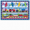 Trains, Planes and Trucks Printed Rug