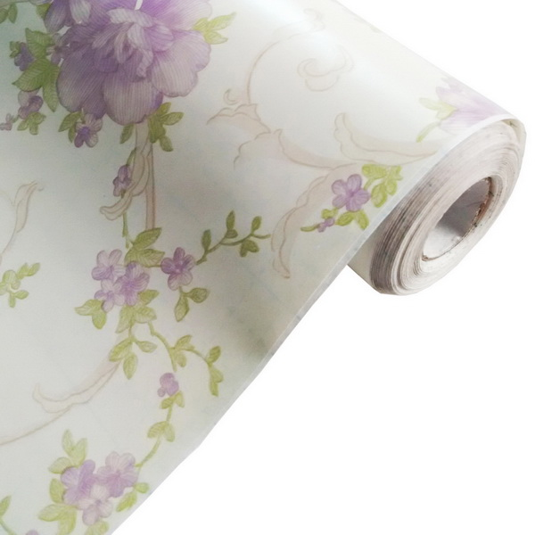 Violet Self Adhesive Wallpaper Home Decor Roll