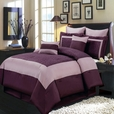 Wendy Purple 8-Piece Comforter Set Calking Size