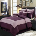 Wendy Purple 8-Piece Comforter Set Queen Size