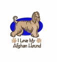 afghan013 Afghan Hound (small or large design)