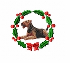 airedale2wreath Airedale (small or large design)