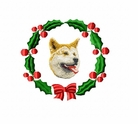 akita1wreath Akita (small or large design)