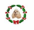 americancocker1wreath Cocker Spaniel (small or large design)
