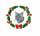 americanshorthaircatwreath Cat (small or large design)