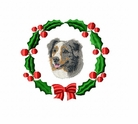 aussie1wreath Australian Shepherd (small or large design)