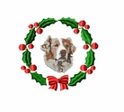 aussie3wreath Australian Shepherd (small or large design)