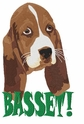 basset029 Basset Hound (small or large design)