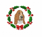 bassett2wreath Basset Hound (small or large design)