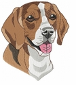 beagle023 Beagle (small or large design)
