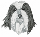 bearded008 Bearded Collie (small or large design)