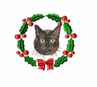 bermesecatwreath Cat (small or large design)