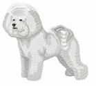 bichon001 Bichon Frise (small or large design)