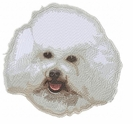 bichon003 Bichon Frise (small or large design)