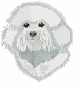 bichon006 Bichon Frise (small or large design)