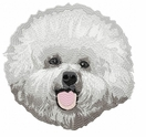 bichon008 Bichon Frise (small or large design)