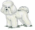 bichon010 Bichon Frise (small or large design)