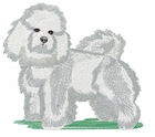 bichon015 Bichon Frise (small or large design)