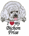 bichon020 Bichon Frise (small or large design)