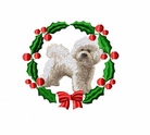 bichon1wreath Bichon Frise (small or large design)