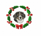 bmd5wreath Bernese Mountain Dog (small or large design)