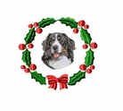 bmd7wreath Bernese Mountain Dog (small or large design)