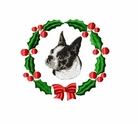 boston1wreath Boston Terrier (small or large design)