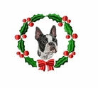 boston2wreath Boston Terrier (small or large design)