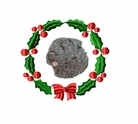 bouvier1wreath Bouvier des Flandres (small or large design)