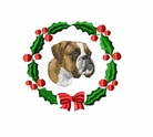 boxer2wreath Boxer (small or large design)