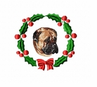 bullmastiff1wreath Bullmastiff (small or large design)