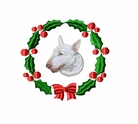 bullterrier1wreath Bull Terrier (small or large design)