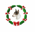 bullterrier2wreath Bull Terrier (small or large design)
