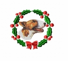 bullterrier3wreath Bull Terrier (small or large design)