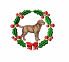 chesa1wreath Chesapeak Bay Retreiver  (small or large design)