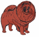 chow004 Chow Chow (small or large design)
