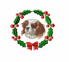 ckcs4wreath Cavalier King Charles Spaniel (small or large design)