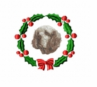 clumber1wreath Clumber Spaniel (small or large design)