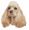 cocker009 Cocker Spaniel (small or large design)
